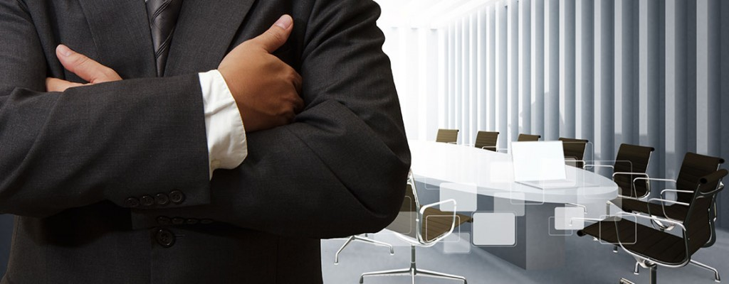 Businessman in Suit for Healthcare Facility Management